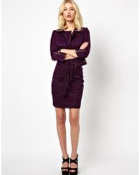 Beloved - Belted Lace Pencil Skirt - Lyst