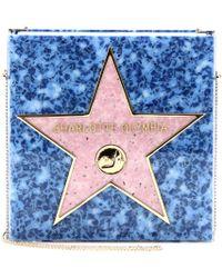 Charlotte Olympia Walk Of Fame Box Clutch blue - Lyst