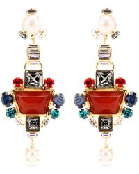 Emilio Pucci - Crystal Bead Embellished Drop Earrings - Lyst