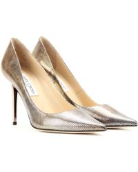 Jimmy Choo Abel Metallic Leather Pumps - Lyst