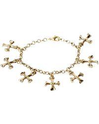 Low Luv by Erin Wasson Cross Bone Charm Bracelet - Lyst