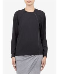 Theory Sonan Zip detail Pullover - Lyst