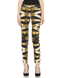 Versus  Printed Pant in Black-yellow - Lyst
