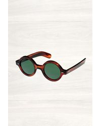 Cutler & Gross Cutler and Gross Dark Turtle Round Sunglasses - Lyst