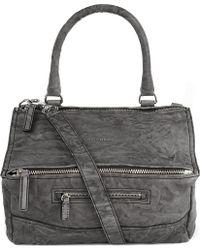 Givenchy Pandora Medium Washed Leather Satchel Grey - Lyst