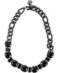 Lanvin - Stone Link Chain Choker - Lyst
