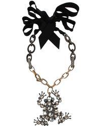 Lanvin - Frog Brooch Necklace - Lyst