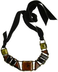 Lanvin Large Topaz Ribbon Necklace - Lyst