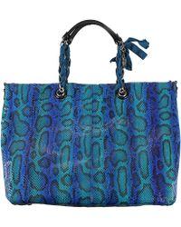 Lanvin - Amalia Snake Shopping Bag - Lyst