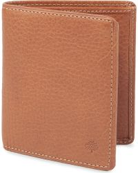 Mulberry Mini Trifold Naturalleather Wallet Oak - Lyst