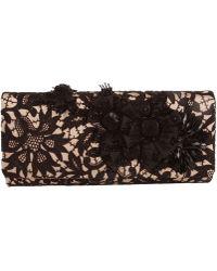 Oscar de la Renta Embroidered Lace Roll Clutch - Lyst