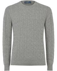 Polo Ralph Lauren Cable Knit Cashmere Jumper - Lyst