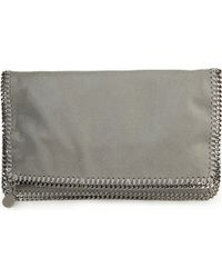 Stella McCartney Falabella Faux-Suede Clutch Bag - For Women - Lyst