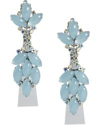 Asos Blue Moon Drop Earrings - Lyst