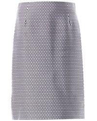 Marc Jacobs Satin Fishnet-print Pencil Skirt - Lyst