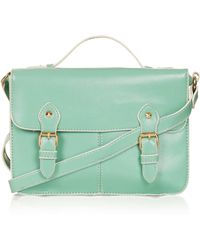 Topshop Edge Paint Satchel - Lyst