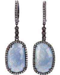 Ebba Brahe - Faceted Sapphire and Diamonds Earrings - Lyst
