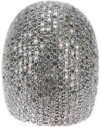 Ebba Brahe - Diamond Encrusted Dome Ring - Lyst