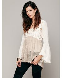 Free People Cutwork Pieced Tunic - Lyst
