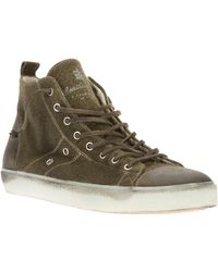 Leather Crown Hightop Trainer - Lyst