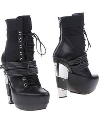 Rodarte High-Heel Laced Ankle Boots - Lyst