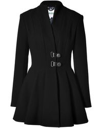 Kenzo Wool Blend Coat in Black - Lyst