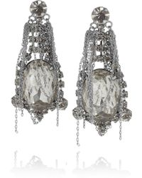 Tom Binns - Fettered Swarovski Crystal Drop Earrings - Lyst