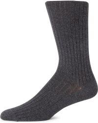Calvin Klein Signature Ribbed Socks - Lyst