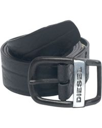 Diesel Distressed Oval Buckle Belt - Lyst