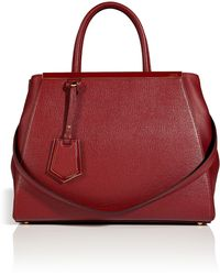 Fendi Leather 2jours Tote in Scarlet Redcherry - Lyst