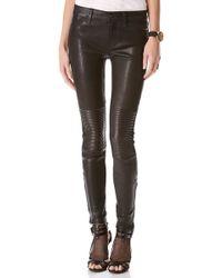 J Brand Nicola Leather Moto Pants - Lyst