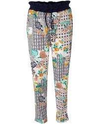 Linea Weekend Folk Print Trousers - Lyst