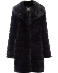 Pied A Terre Knee Length Cut Fur Coat - Lyst