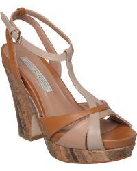 Pied a Terre | Lennie Block Heel T Bar Sandals | Lyst