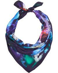 Teatum Jones - Purple Abstract Butterfly Print Silk Scarf - Lyst