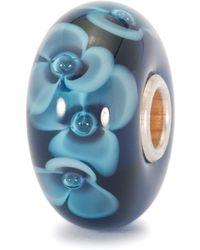 Trollbeads - Midnight Flower Glass Charm Bead - Lyst