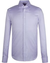 Alexandre Savile Row Lilac Jacquard Check Tailored Shirt - Lyst