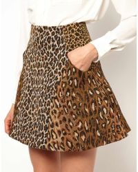 Boutique by Jaeger - Antipodium Intersection Skirt in Feline Tapestry - Lyst