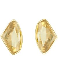Aurora - 18ct Gold Plated Clip On Earrings - Lyst