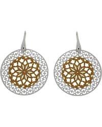 Azendi | Rose Pattern Earrings | Lyst