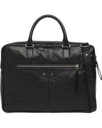 Balenciaga Mini Folder Strap Black - Lyst