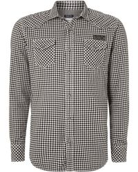 Diesel Two Pocket Gingham Shirt - Lyst