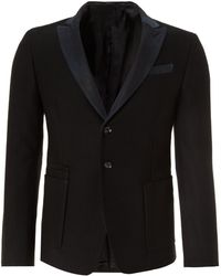 Diesel Jacket with Contrasting Lapel and Pocket - Lyst