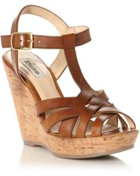 Dune Gerri T Bar Wedge Shoes - Lyst