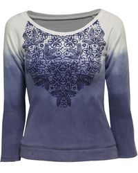 Jane Norman Ombre Lace Print Sweat Top - Lyst
