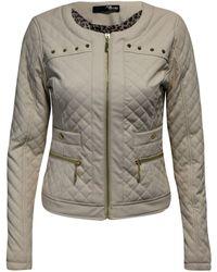 Jane Norman - Quilted Stud Biker Jacket - Lyst