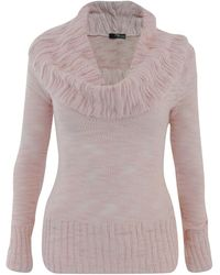 Jane Norman Cowl Neck Jumper pink - Lyst