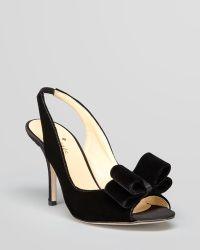 Kate Spade Open Toe Evening Pumps - Charm Bow High Heel - Lyst