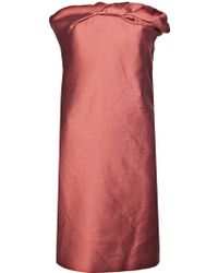 Lanvin Strapless Fitted Dress - Lyst