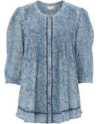 Linea Weekend Ladies Snake Print Pleat Blouse blue - Lyst